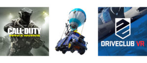 call of duty and fortnite and driveclub